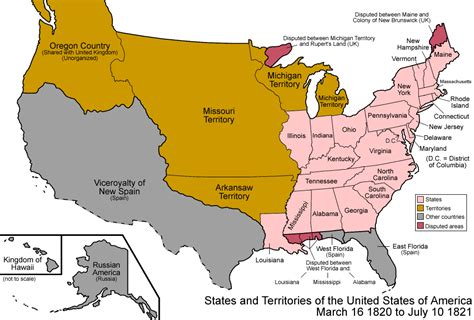 map of us states in 1820 maps united states map 1820