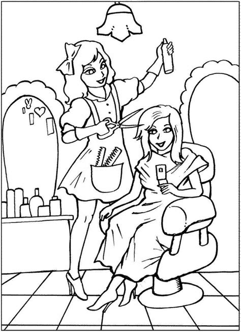 hairdresser coloring pages hairdresser colouring pages for kids