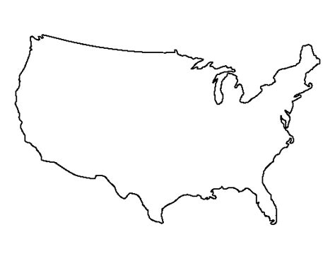 printable us map outline free united states pattern use the printable outline for