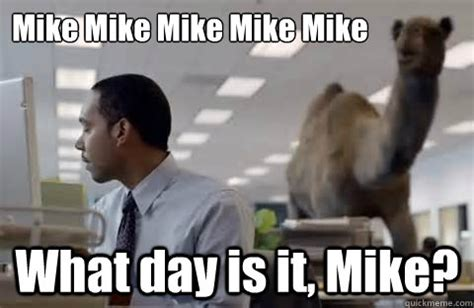 hump day meme mike   the random vibez