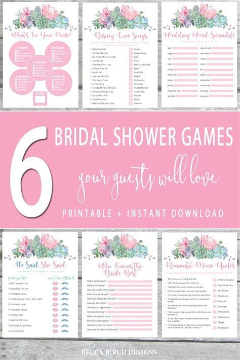 6 Best Bridal Shower Games ? Floral Theme ? Wedding Trivia