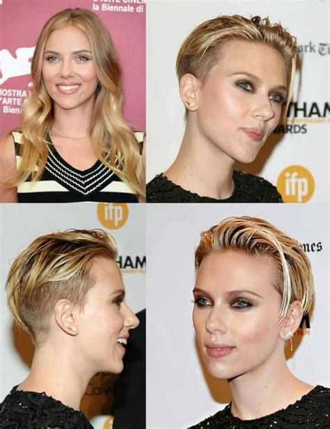 scarlett johansen extreme hircut 62 best hair styles images on pinterest short hair