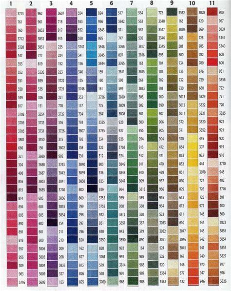 dmc color chart 17 best les couleurs dmc images on crossstitch