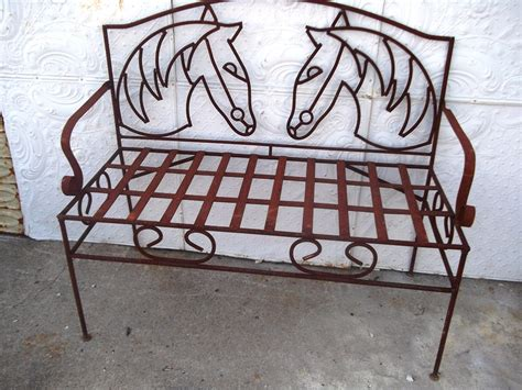 wrought iron bench seats wrought iron horse bench metal seating