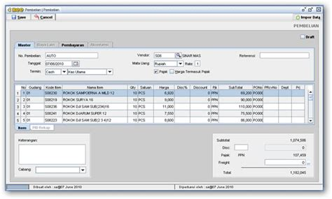 Software Sistem Program Akuntansi Pembukuan Sederhana software pembukuan
