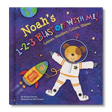 1 2 3 blast off with me personalized children s books