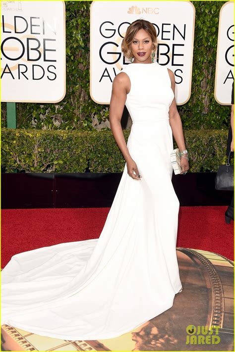White At The Golden Globes by Laverne Cox Is A Vision In White At Golden Globes 2016