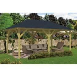 kiosque pavillon salon de jardin en kit bois superieur 20m2