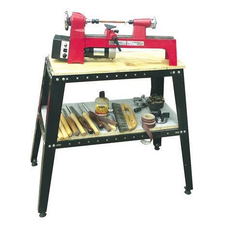 woodworking stand variable length mini midi lathe stand