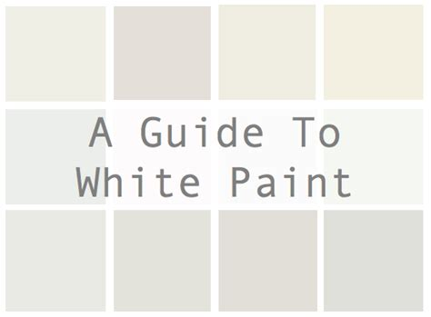a guide to white paint catherine design
