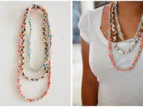 Make My Own Jewelry - no sew braided fabric necklace tutorial the crafty blog stalker