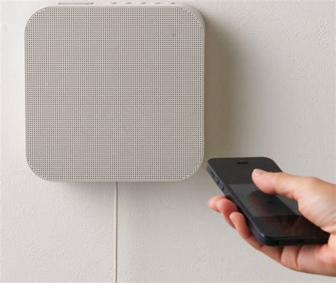 minimalist speakers muji s minimalist wall mounted speaker plays music