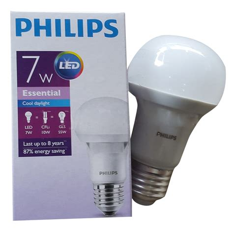 Lu Bohlam Led Philips led bulb philips essential 7w lu bohlam elevenia