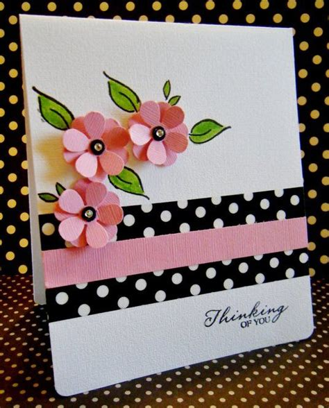 Simple Handmade Greeting Cards - handmade card clean and simple design black white