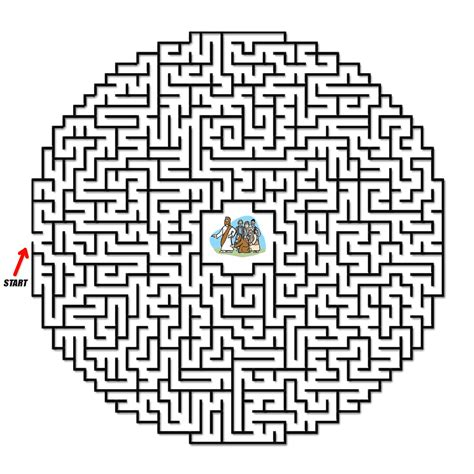 printable religious mazes the woman touched jesus coloring pages