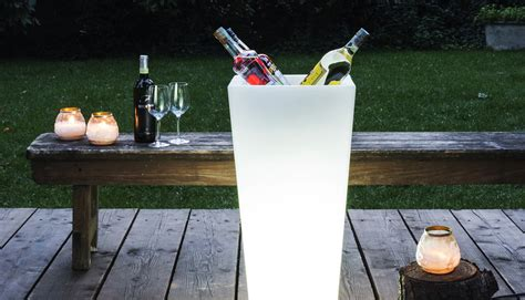 vasi da giardino illuminati arredamento esterno outdoor serralunga