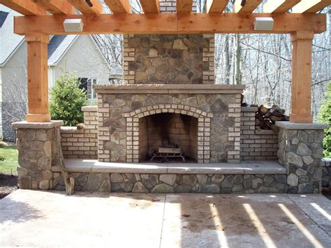 outdoor fireplace designs plans and ideas and safety all design idea