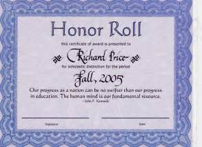 Honor Roll Certificates Template by 10 Best Images Of Honor Roll Certificate Template