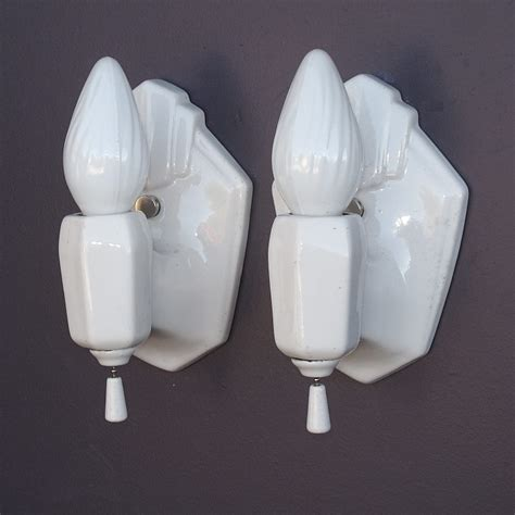 vintage bathroom sconces white porcelain vintage bathroom sconces from