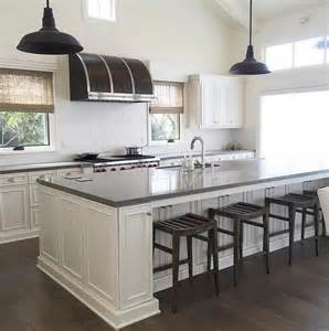 Limestone Countertops Kitchen by Gray Quartz Top Kitchen Island With Black Vintage Barn