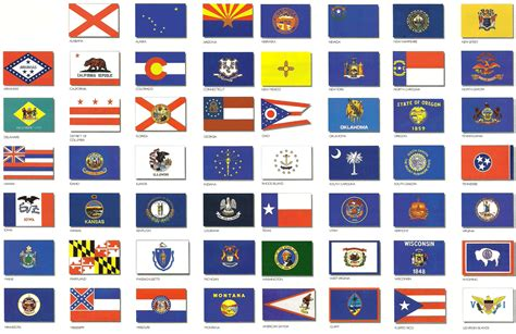 free printable us state flags us state flags united states of america pinterest