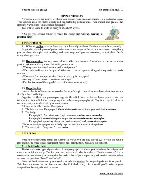 how to write an opinion paper opinion essays