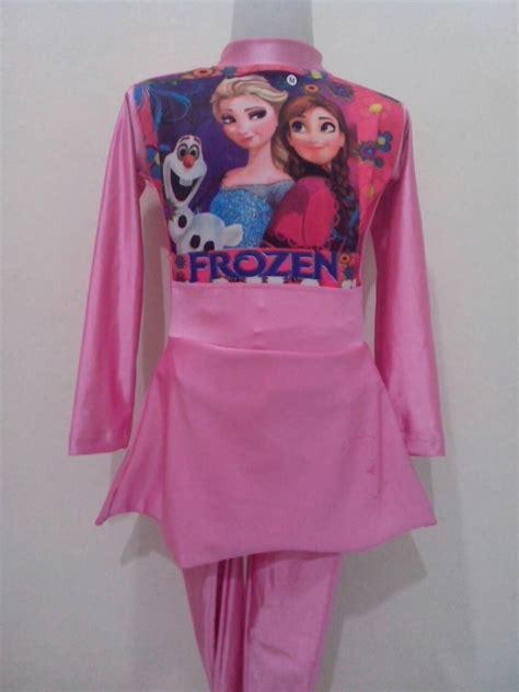 Baju Muslim Denim Frozen jual baju renang muslim anak frozen fie busana