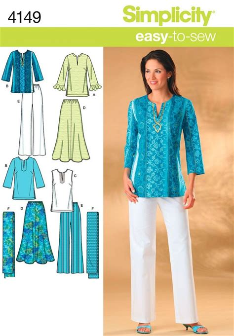 sewing pattern ladies trousers simplicity 4149 sewing pattern ladies skirt trousers top