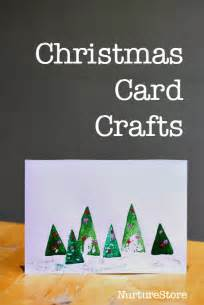 easy christmas card crafts for preschool toddlers and