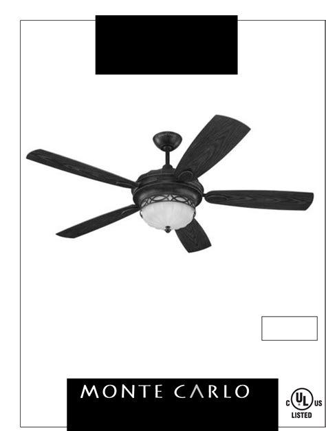 monte carlo fan installation guide monte carlo fan company fan 5ed56wad series user guide