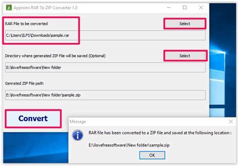 converter rar to zip 5 free rar to zip converter software for windows