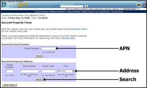 Tax Lookup By Address Info Santa Clara County Secured Property Tax Search