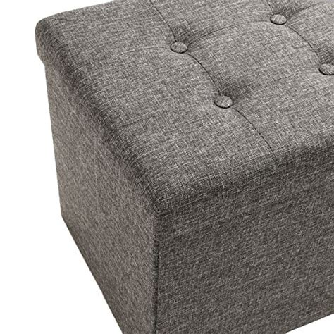seville classics foldable storage bench ottoman charcoal gray seville classics foldable storage bench ottoman charcoal