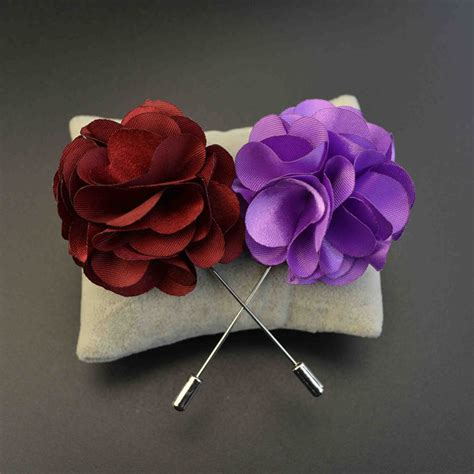 Handmade Fabric Brooches - handmade fabric brooch wedding brooch bouquet gentlemen