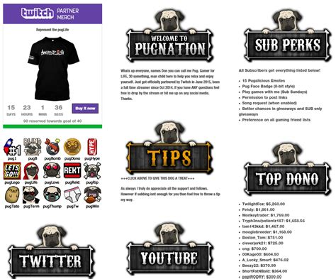 11 Killer Exles Of Twitch Panels You Must See Twitch Info Templates