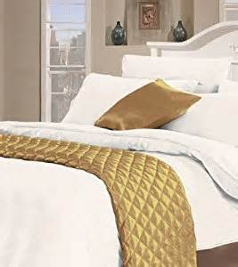 desire faux silk king size quilted bedspread in gold