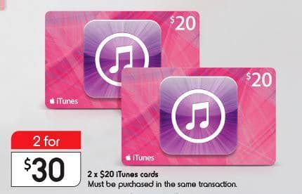 expired get a pair of 20 itunes gift cards for 30 at kmart for nearly a month - Kmart Itunes Gift Card