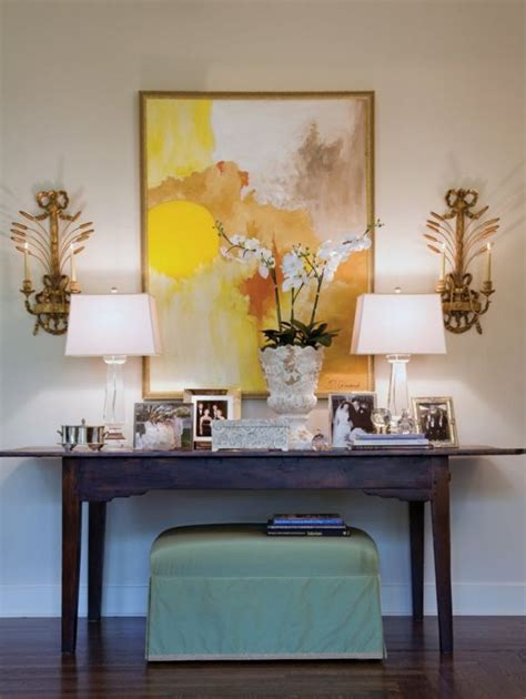 How To Decorate A Console Table Top Seeing The Forest Decorate A Sofa Table