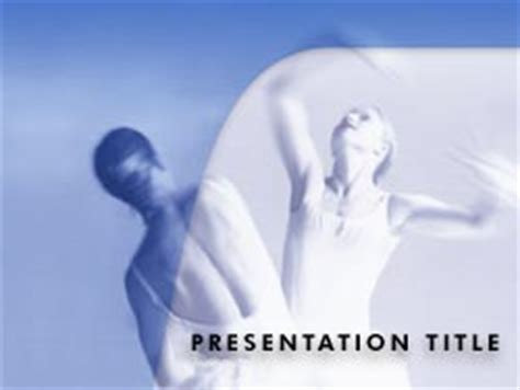 ballet dance presentation template for powerpoint and royalty free ballet dance powerpoint template in blue