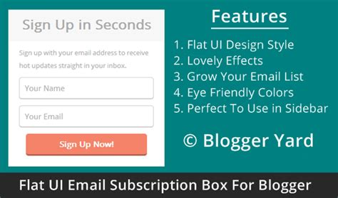blogger email list simple flat ui email subscription box for blogger