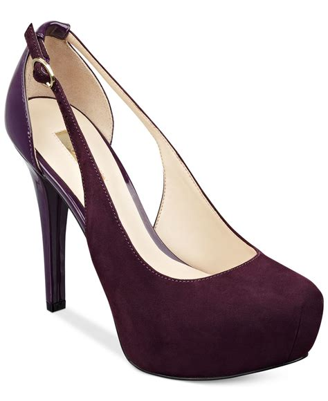 Dress Heels Guess lyst guess s jacoba platform pumps in purple