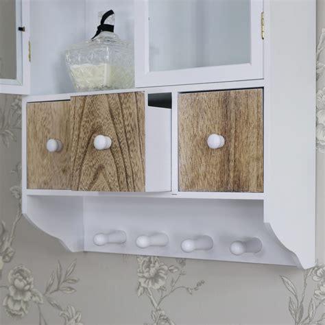 wall wooden glazed wall cabinet drawers hooks storage unit kitchen bathroom home ebay