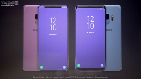 check out these galaxy s9 renders with an iphone x like notch sammobile