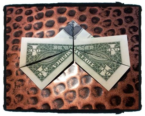 simple flapping butterfly money origami