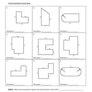 fifth grade perimeter compound figures worksheet 05 one