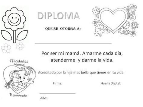 diploma madres diploma para el d 237 a de la madre dia de la madre pinterest