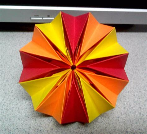 Origami Firework - origami fireworks back view by theorigamiarchitect on