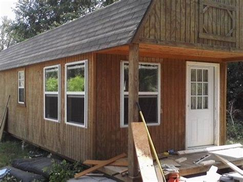 Convert Storage Shed To Cabin by 12x32 Storage Building Converted To 1 Bedroom Home Tiny