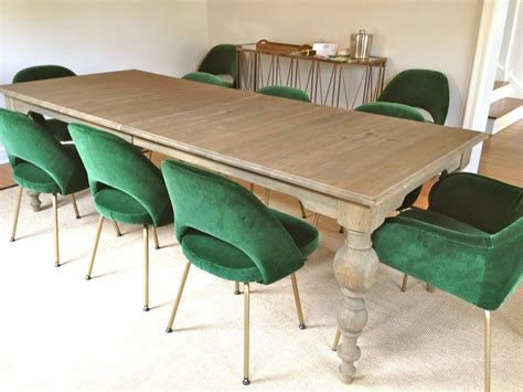 Dining Table With Green Chairs Rosa Beltran Design Sneak Peek Green Velvet Saarinen