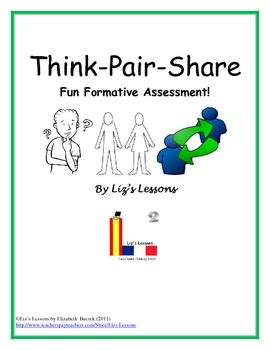 free think pair share fun formative assessment by liz s